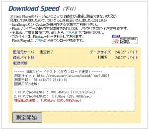 ADSLの下り実効速度